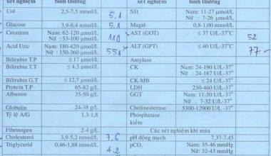Ý nghĩa 25 chỉ số xét nghiệm sinh hoá